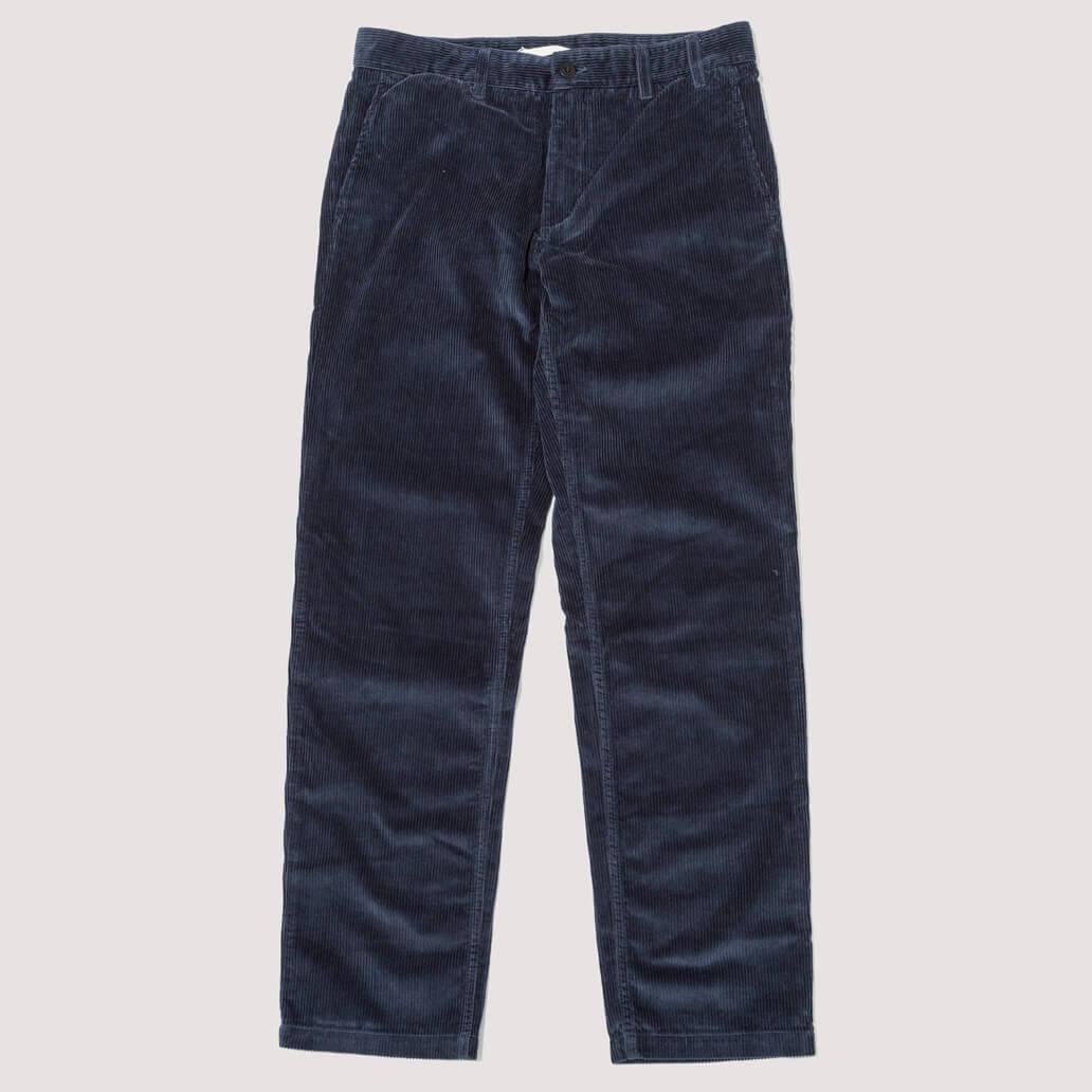 Aros Corduroy Trousers - Ensign Blue