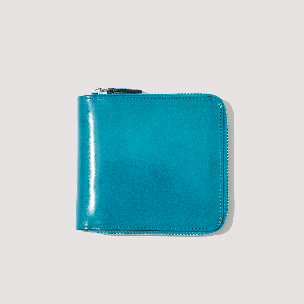 Bi-Fold Zip Wallet - Brilliant Blue