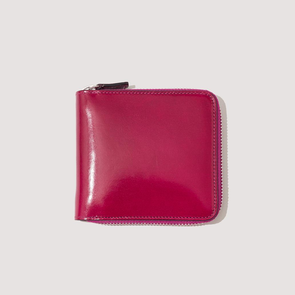 Bi-Fold Zip Wallet - Fuschia