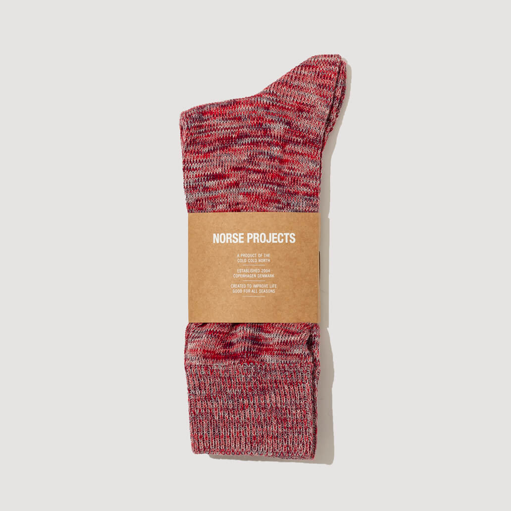 Bjarki Blend Socks - Askja Red