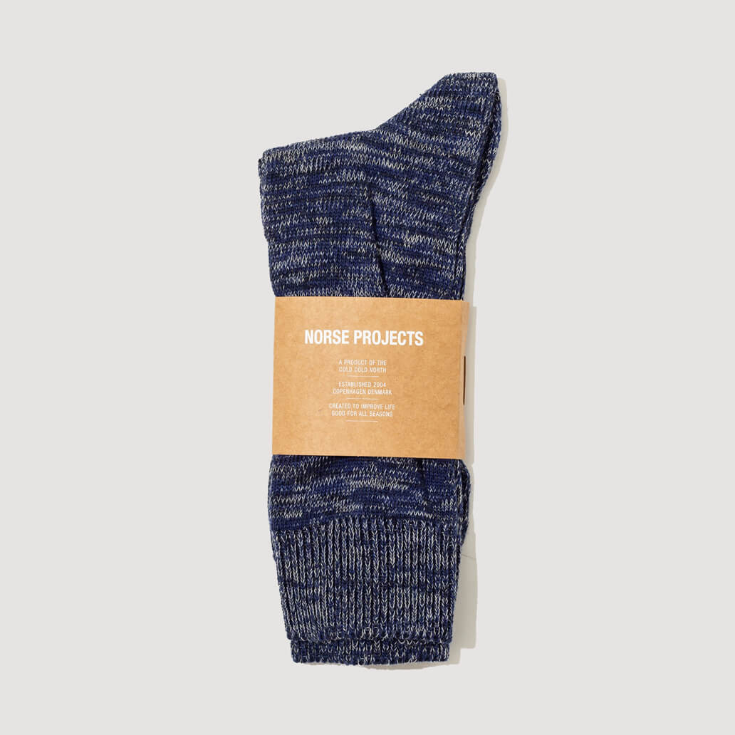 Bjarki Blend Socks - Navy