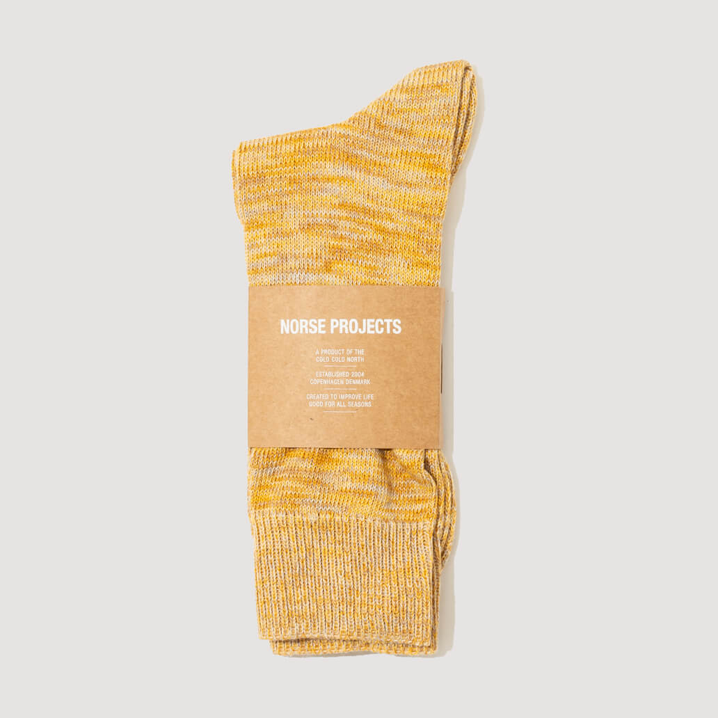 Bjarki Blend Socks - Sunwashed Yellow