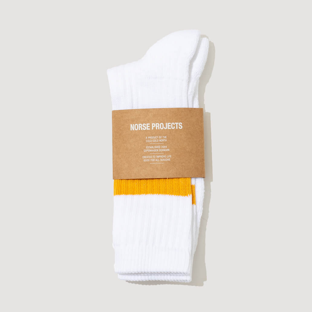Bjarki Cotton Sport Socks - Sunwashed Yellow