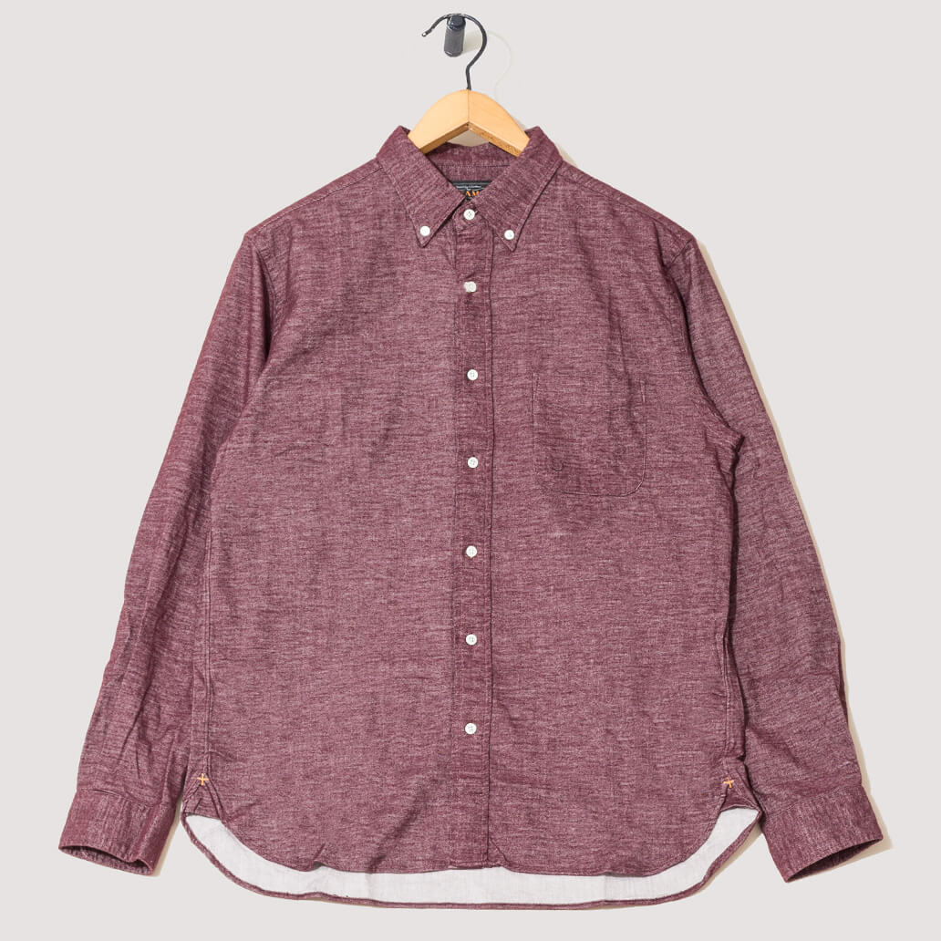 Button Down Free Flannel Shirt - Burg