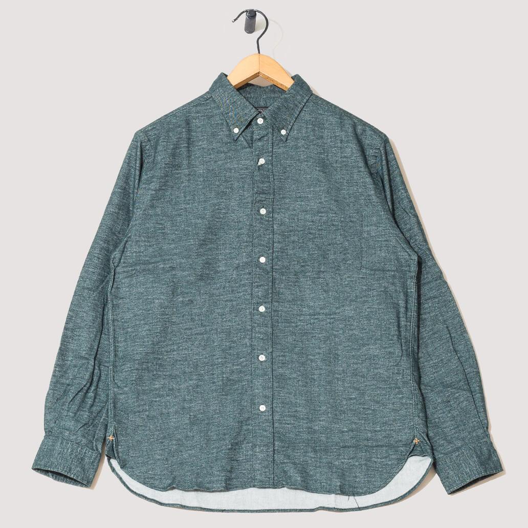 Button Down Free Flannel Shirt - Green