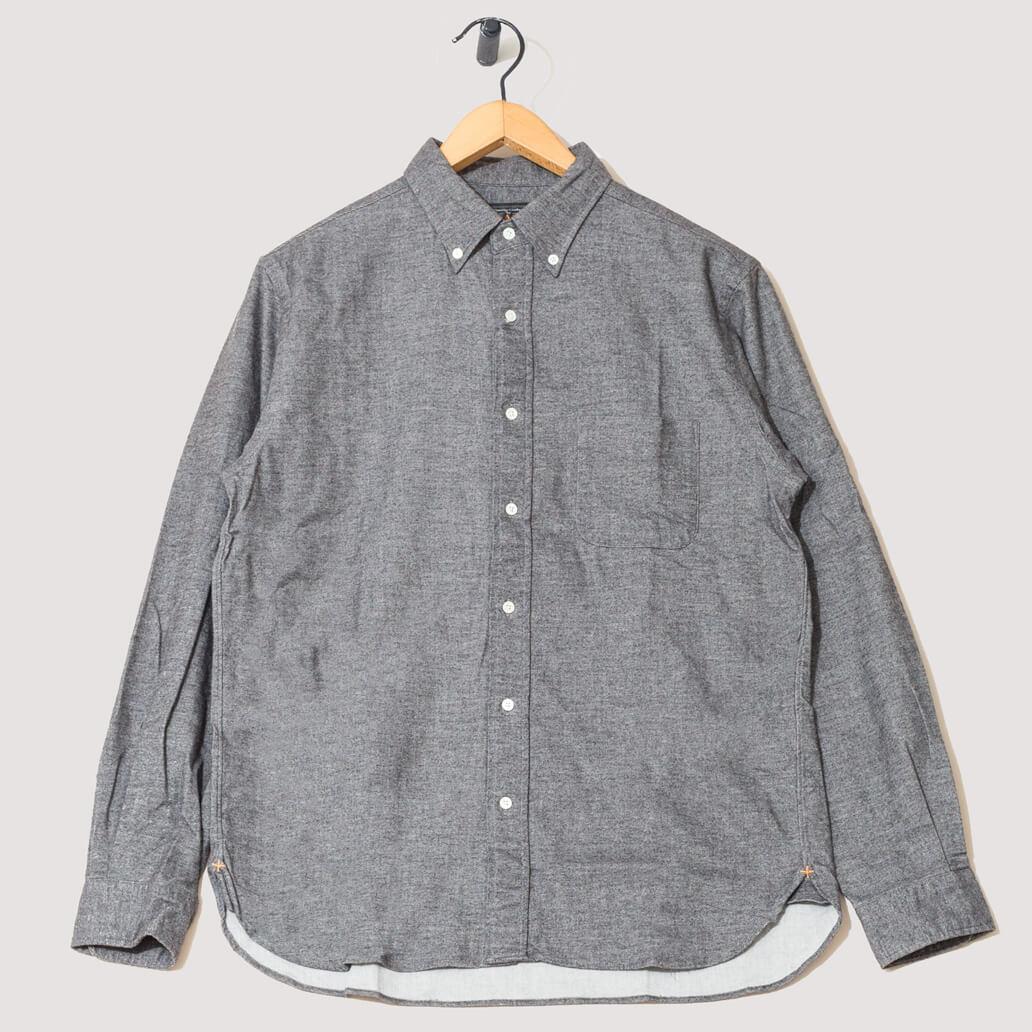 Button Down Free Flannel Shirt - Grey