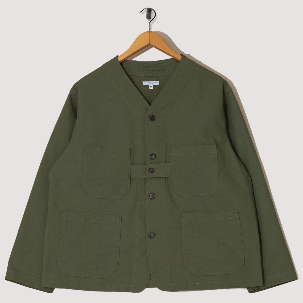 Cardigan Jacket Cotton Ripstop - Olive
