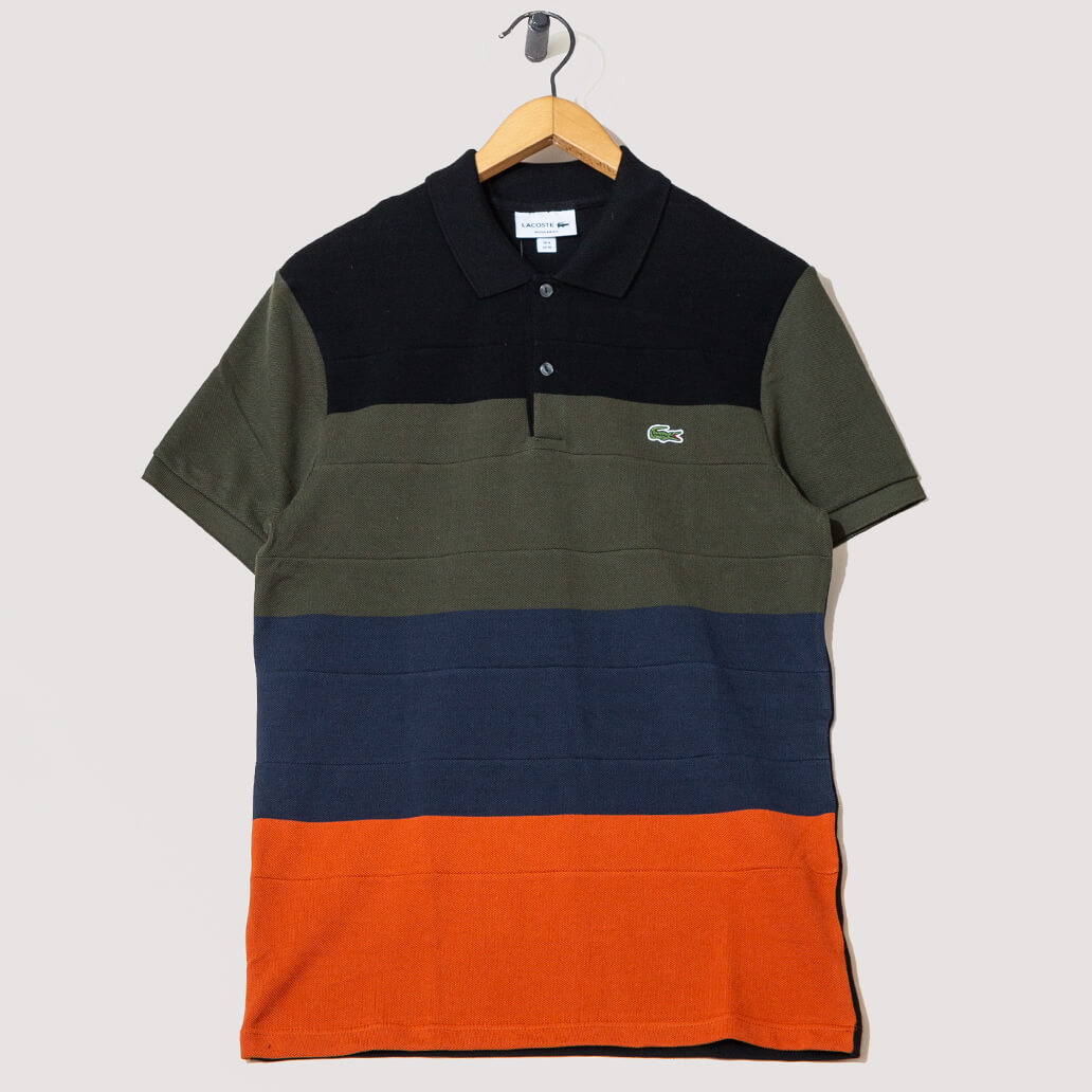 Chemise Col Bord-Cotes Ma - Black/Green/Navy/Orange