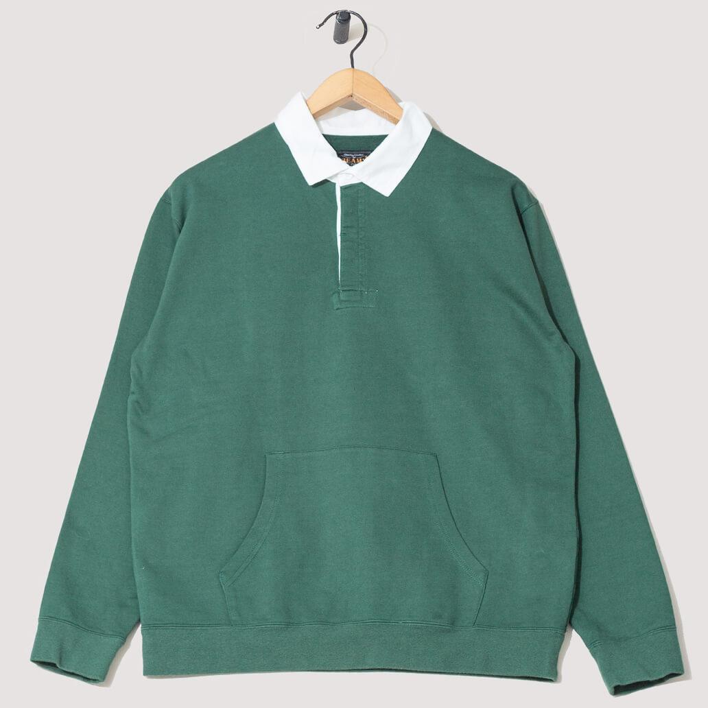 Cotton Pocket Rugger - Green