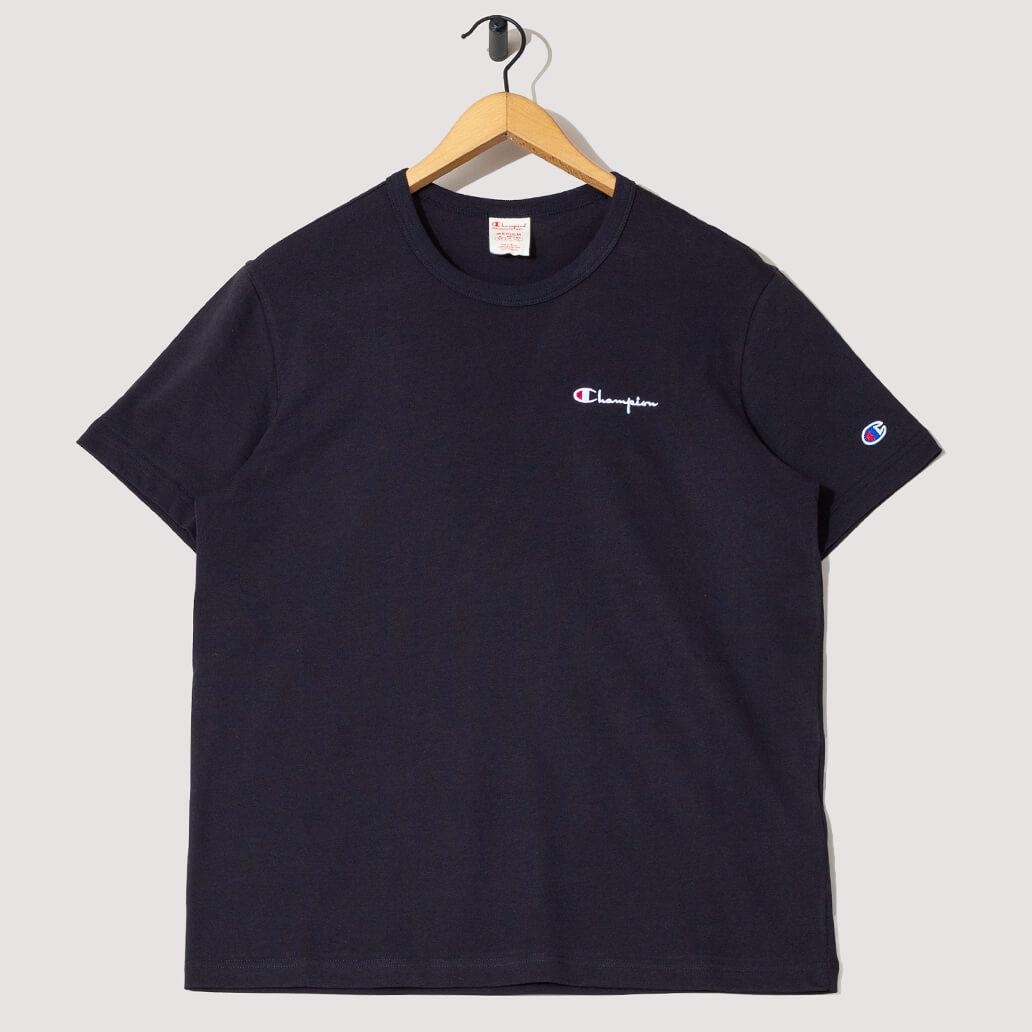 Reverse Weave Small Script Logo T-Shirt - Black