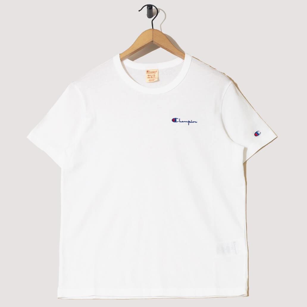 Reverse Weave Small Script Logo T-Shirt - White