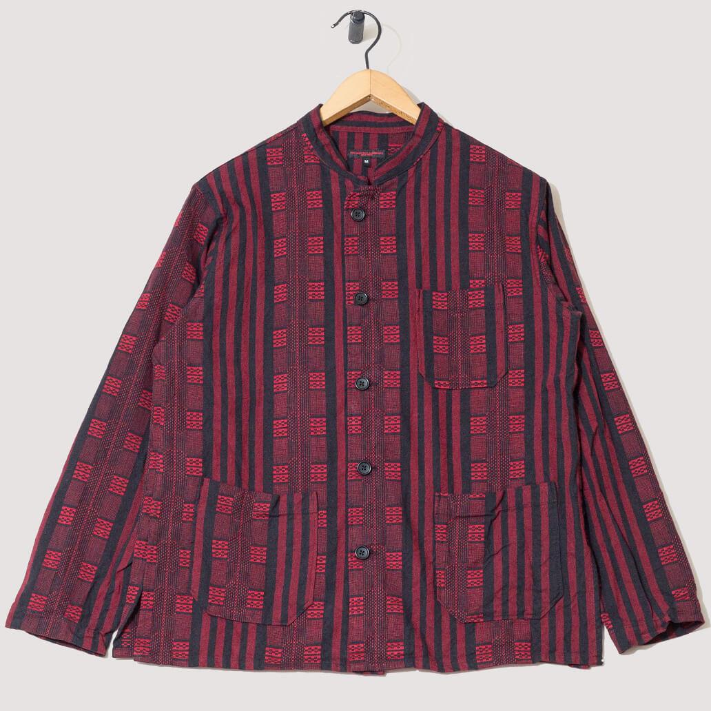 Dayton Ethnic Stripe Jacquard Shirt - Red/Black (Private)