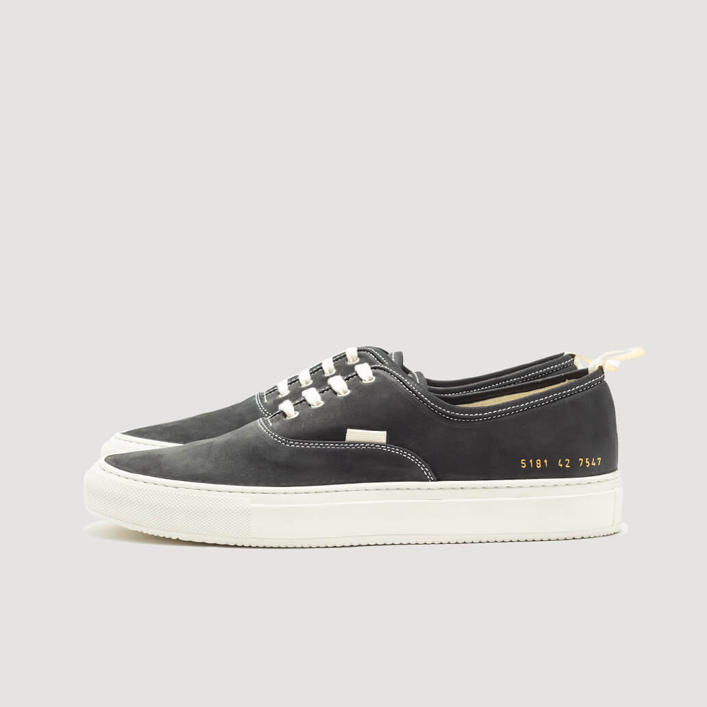 Four Hole Nubuck Sneakers - Black