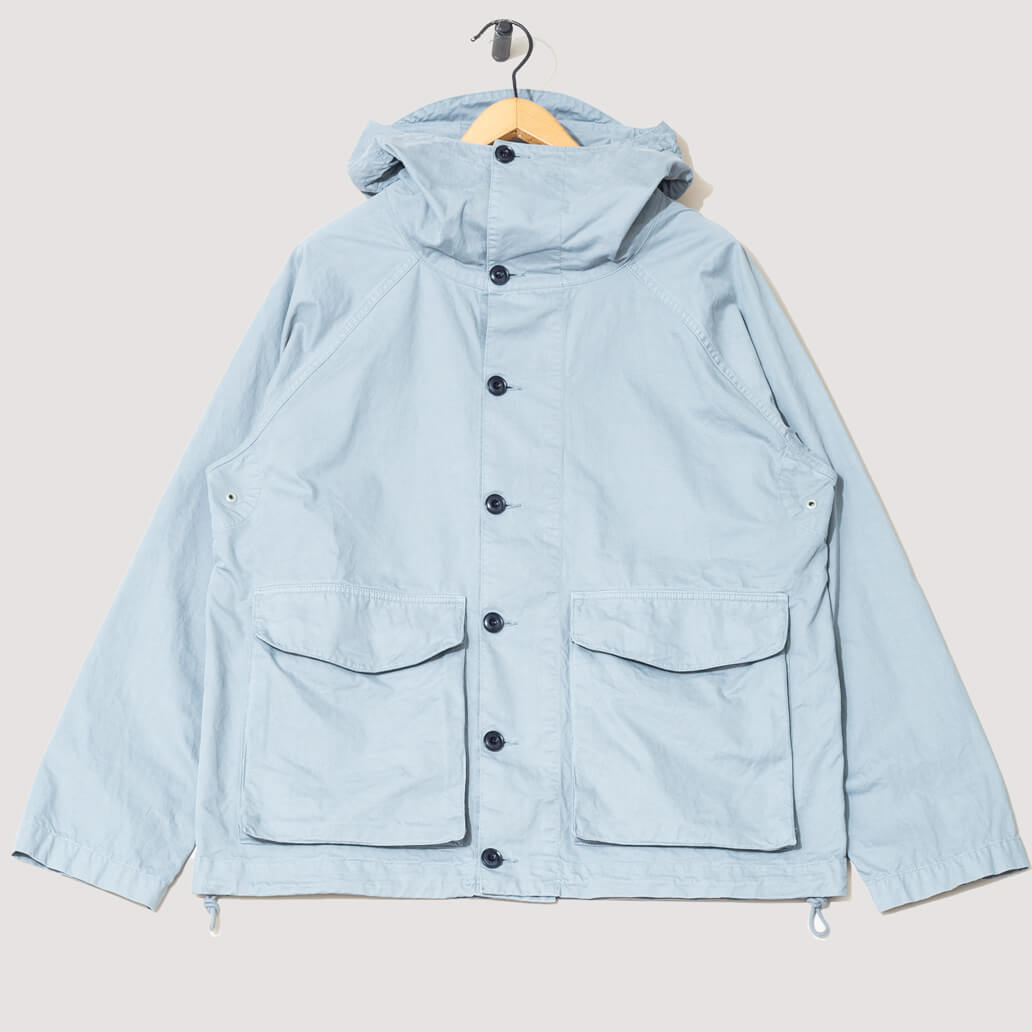 GD Military Hooded Parka - Steel Blue