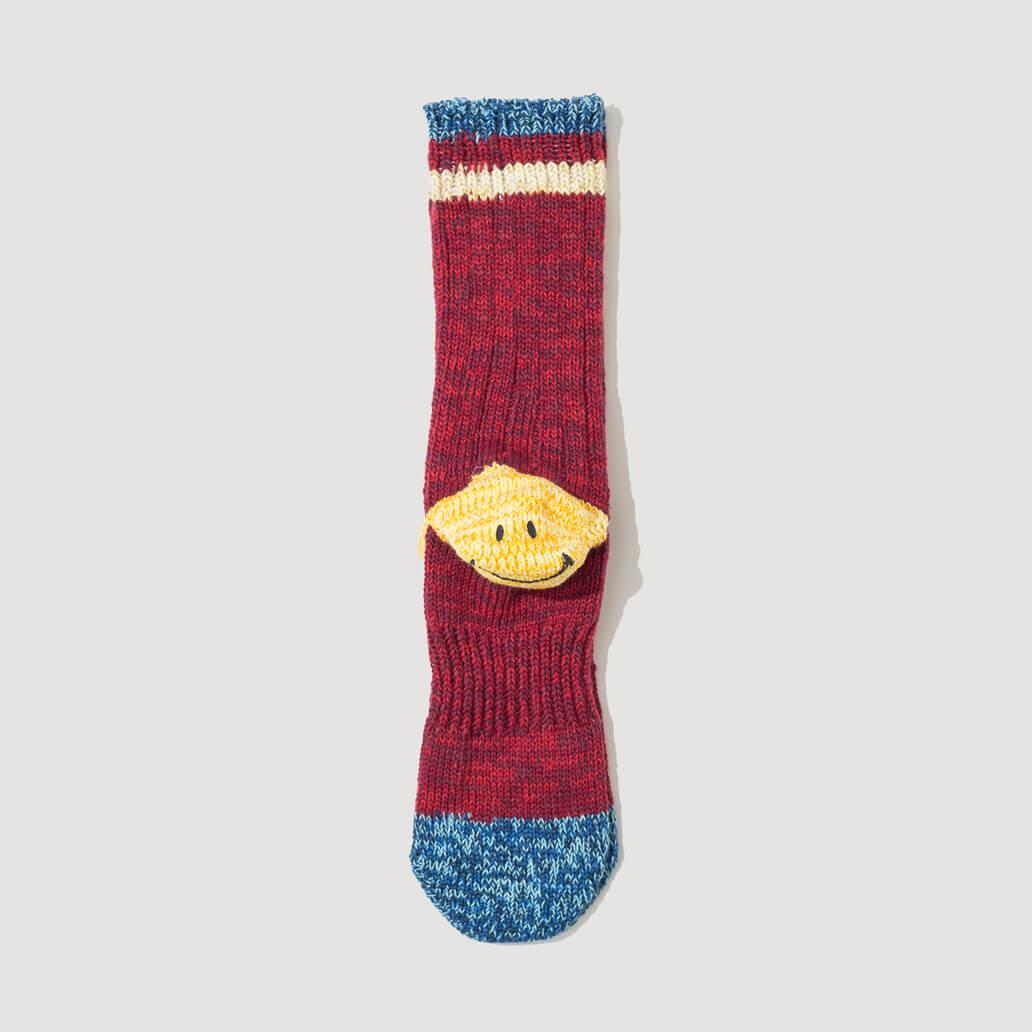 Heel Pocket Socks - Red