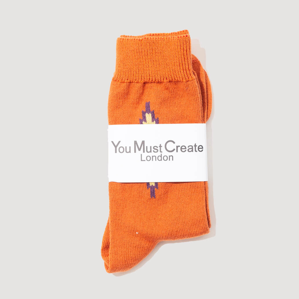 Ikat Socks - Orange