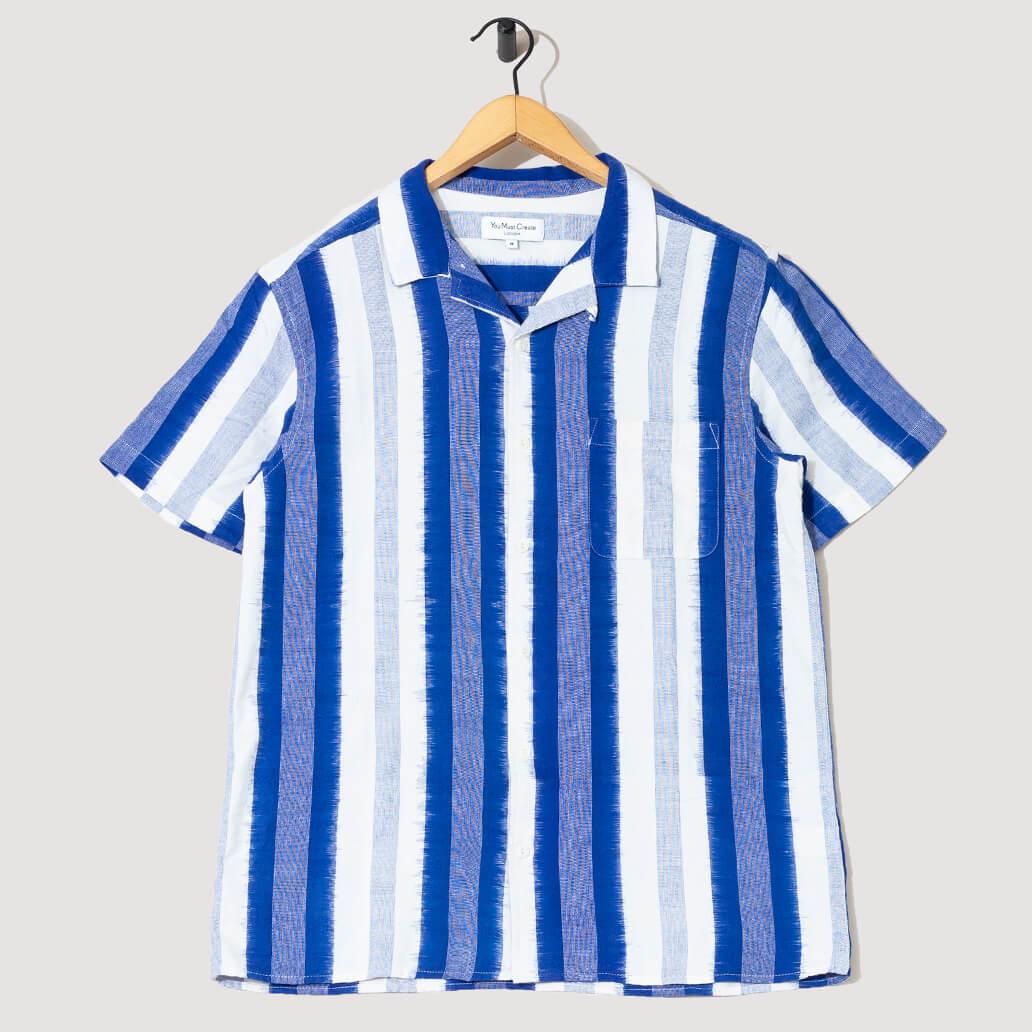 Malick Shirt - Blue Vertical Stripe