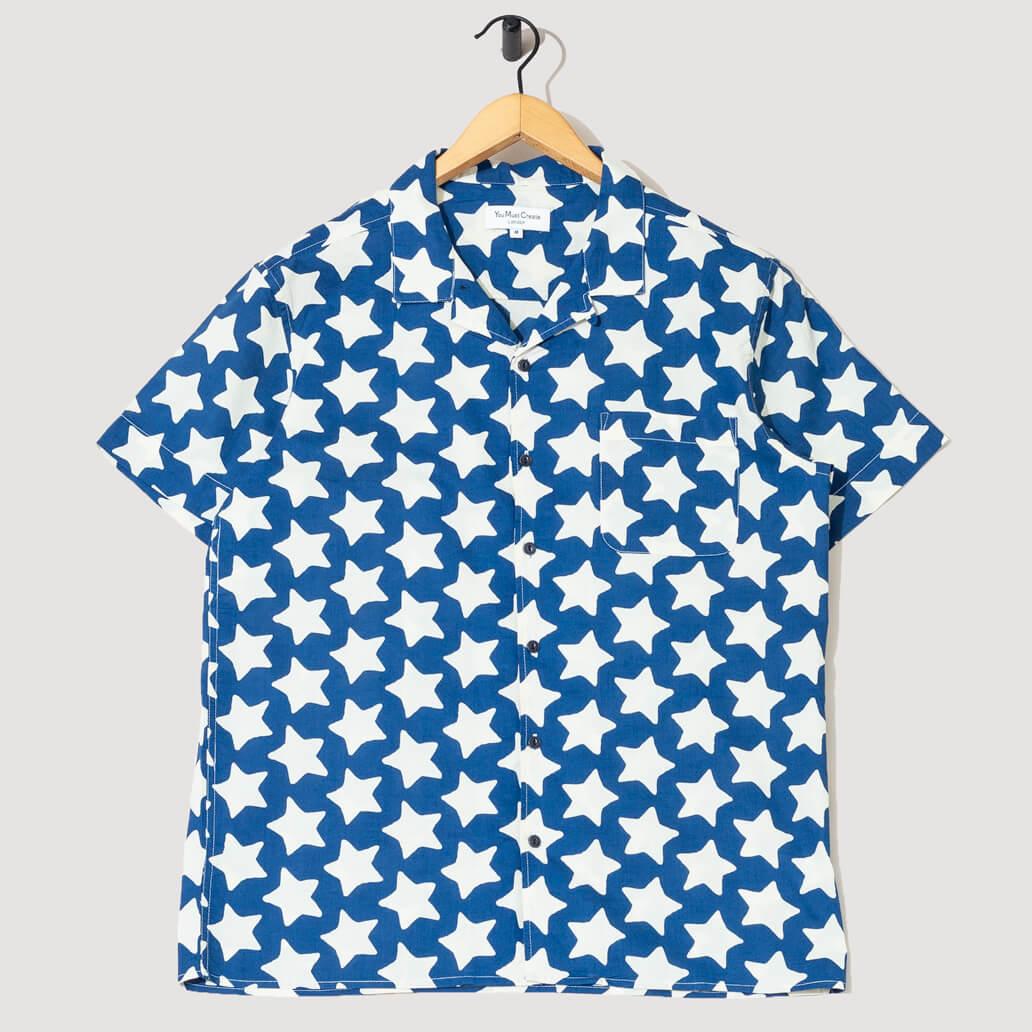 Malick Shirt - Blue/Natural Stars