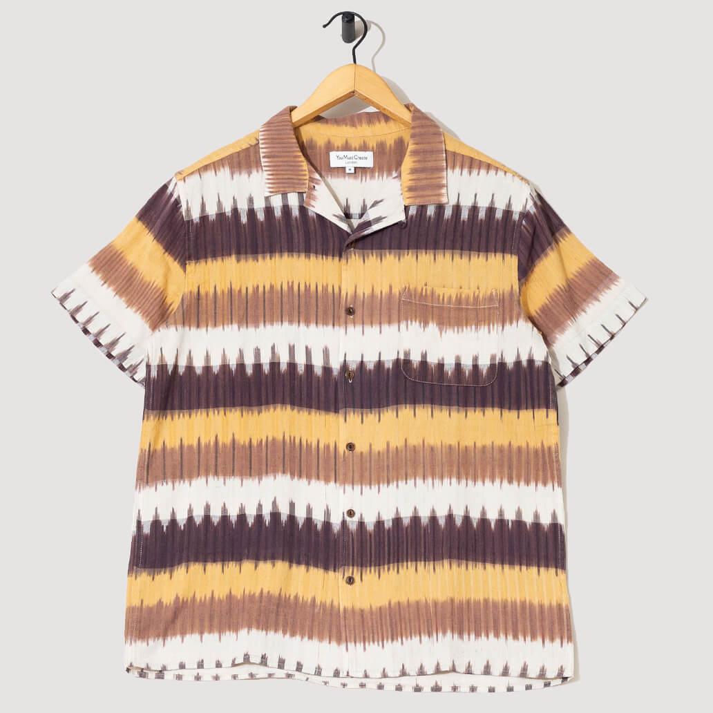 Malick Shirt - Brown Horizontal Stripe