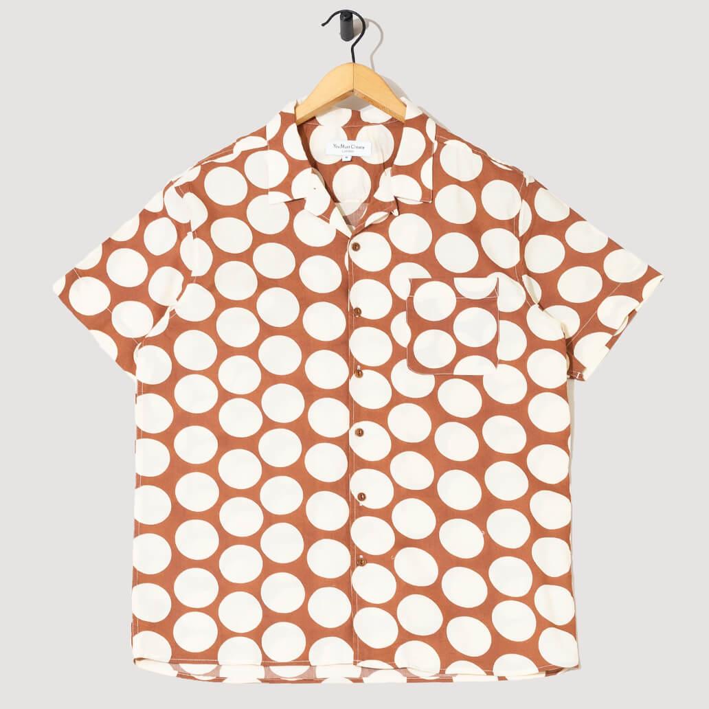 Malick Shirt - Brown/Cream Spots