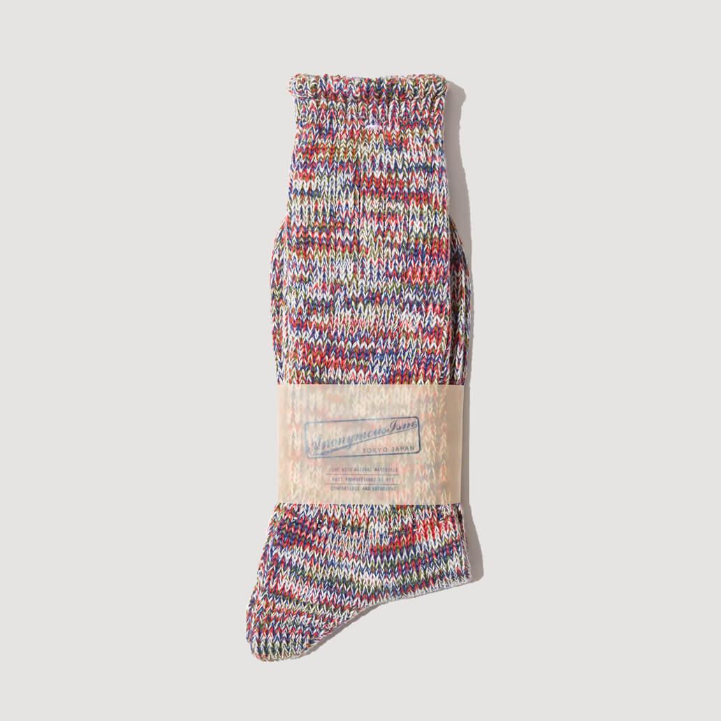 Melange Socks - Blue/Red (109)