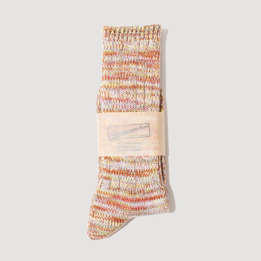 Melange Socks - Brick/khaki  (113)