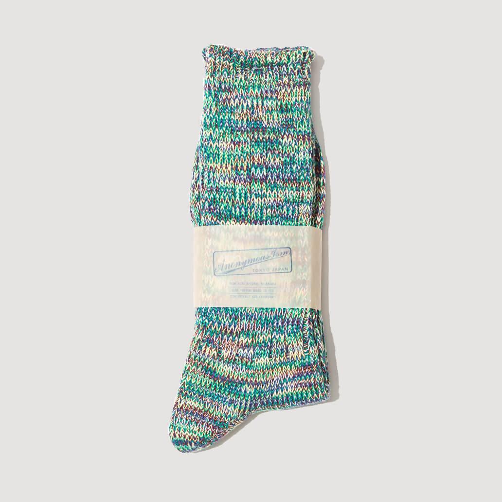 Melange Socks - Green/Wine  (114)
