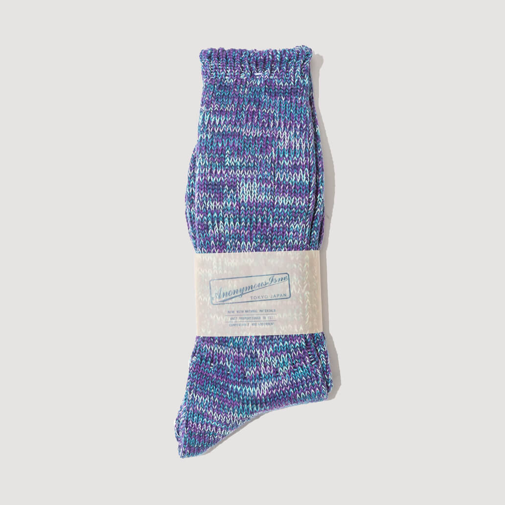 Melange Socks - Indigo/Purple  (115)