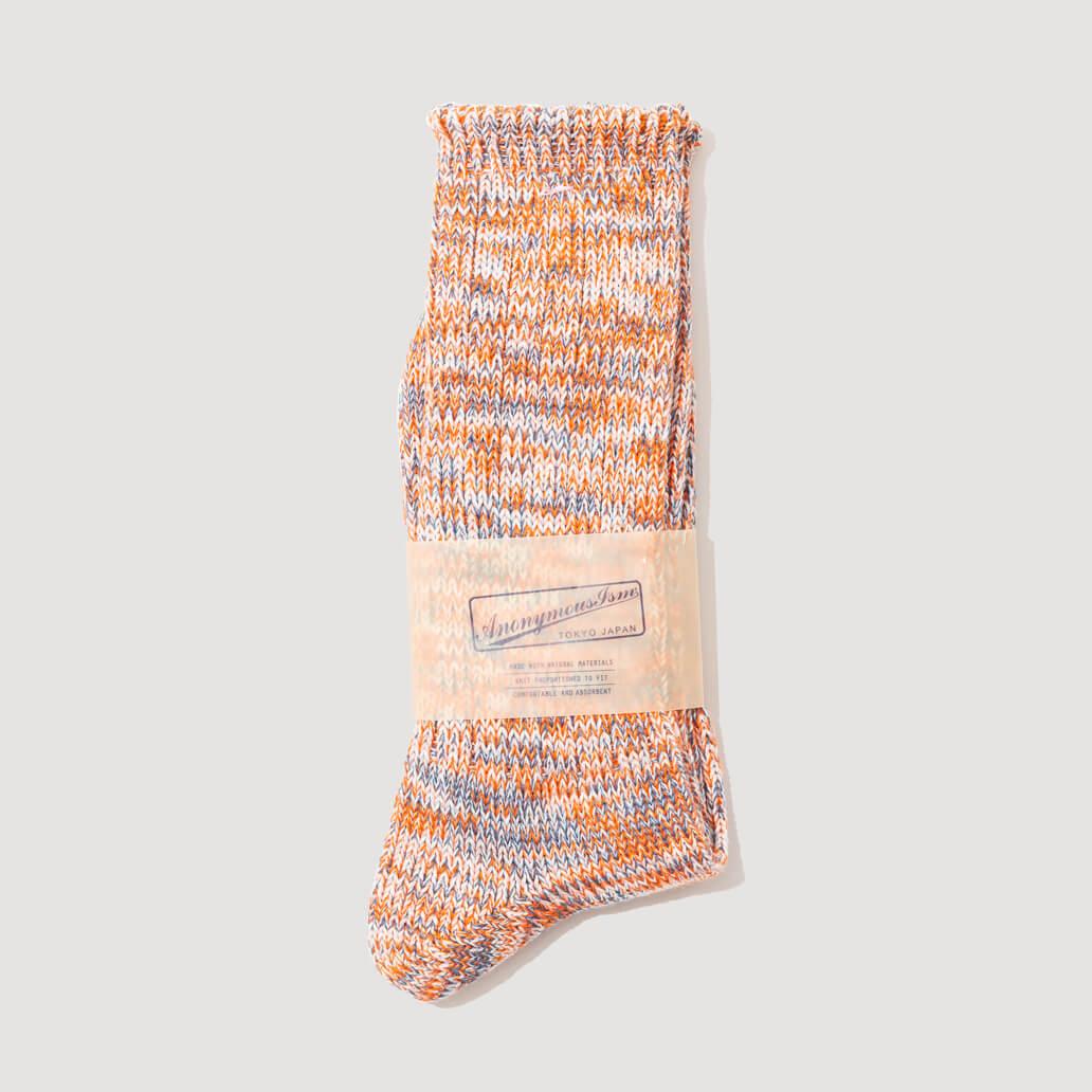 Melange Socks - Orange/Blue (108)