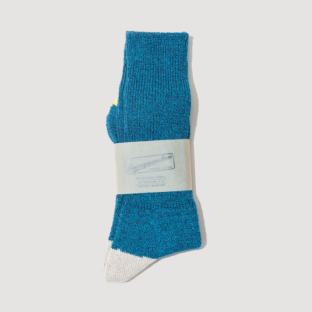 Moc 2 Point Crew Sock - Blue (118)