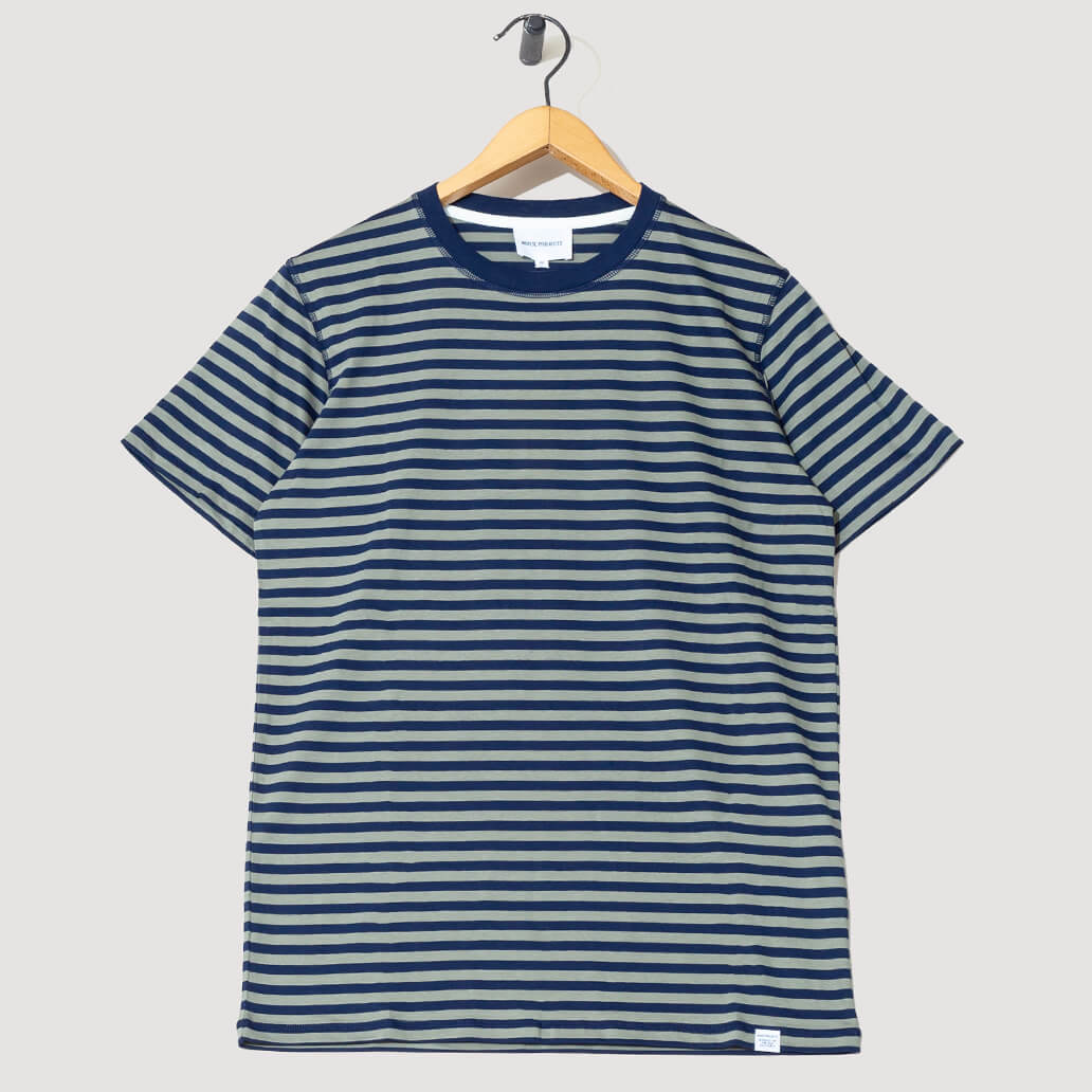 Niels Classic Stripe - Dark Navy/Light Olive