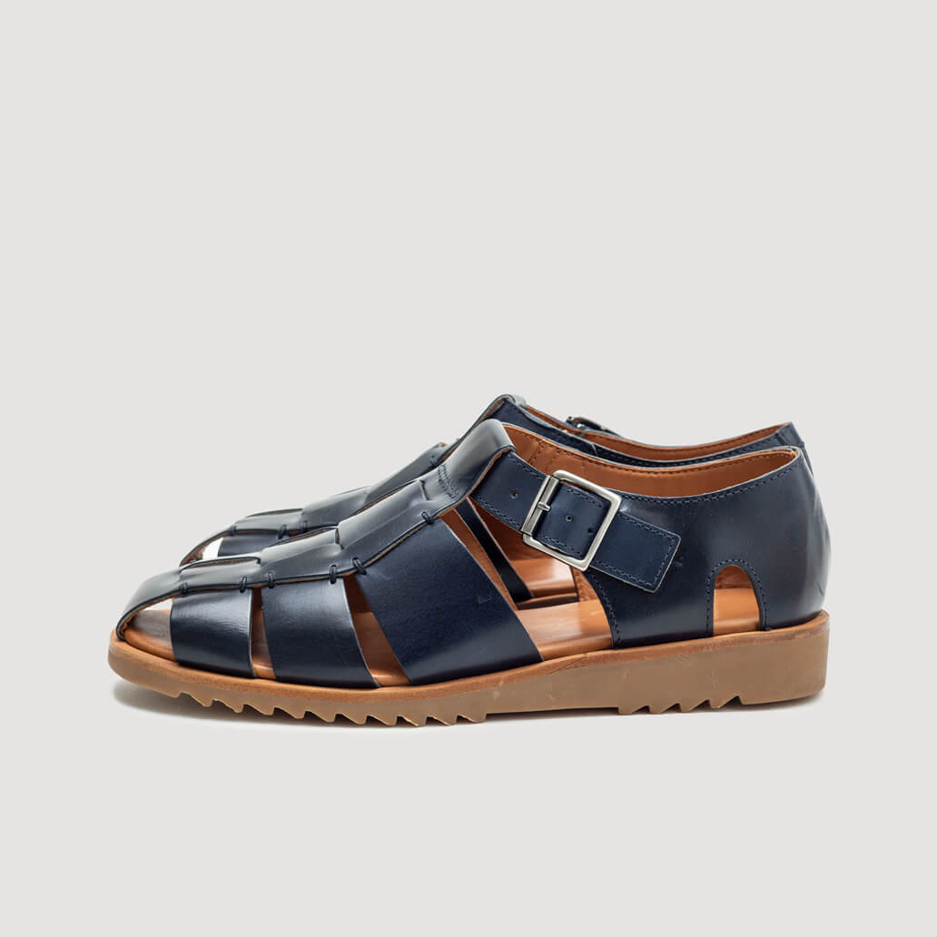 Pacific/Sport Miel Sandal - Vegetal Navy | Paraboot | Peggs & son