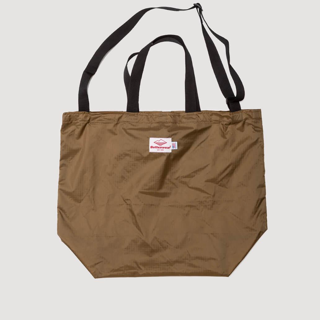 Packable Tote - Tan/Black