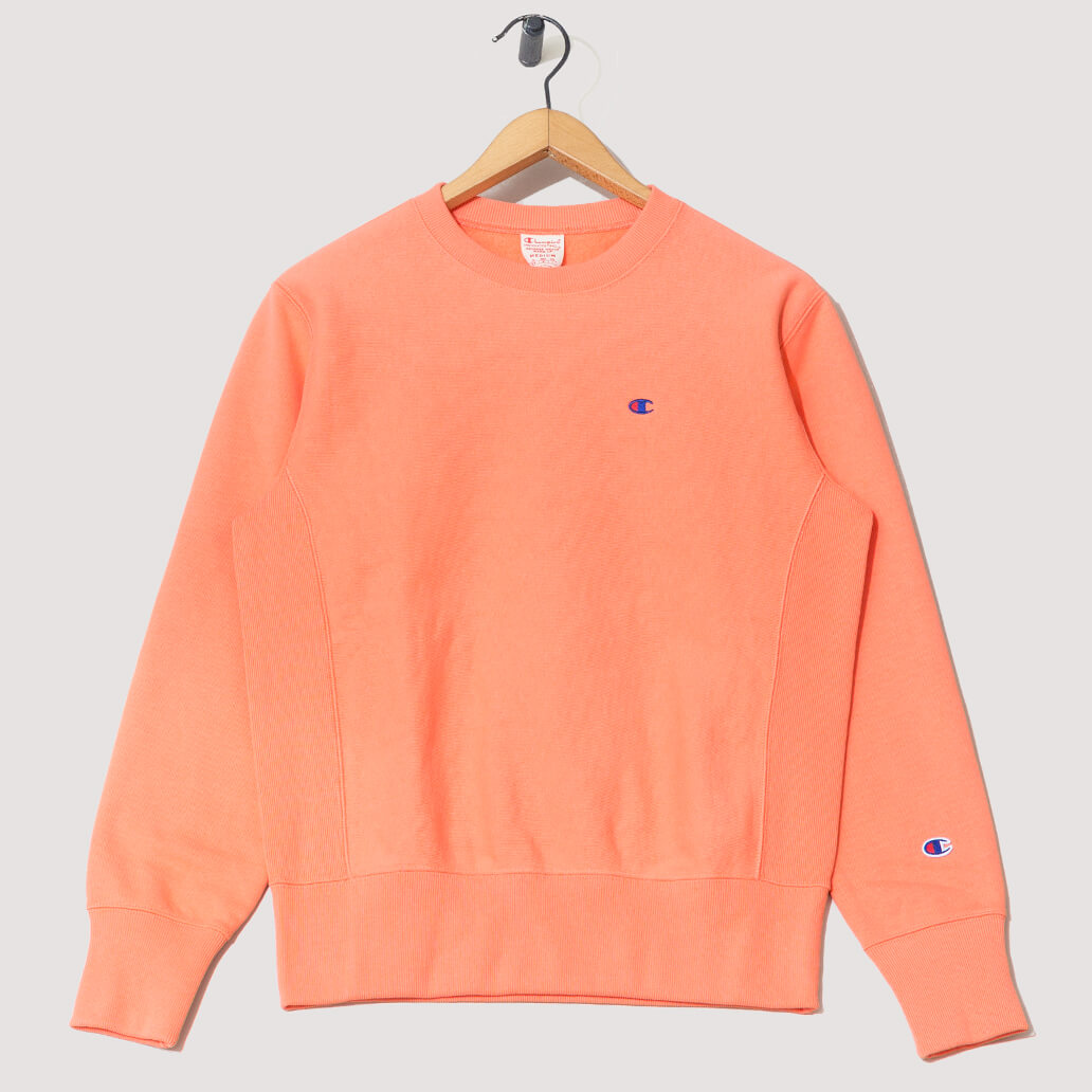 Reverse Weave Crew Neck Sweatshirt - Peach