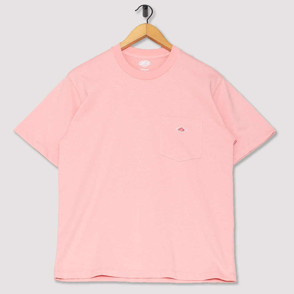 S/S Pocket Logo T-Shirt - Ash Pink