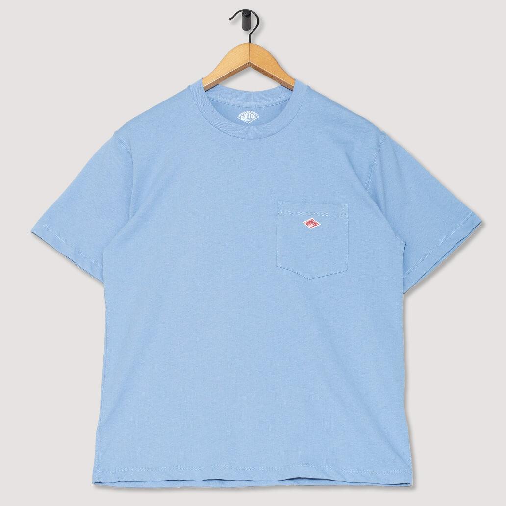 S/S Pocket Logo T-Shirt - Fade Blue