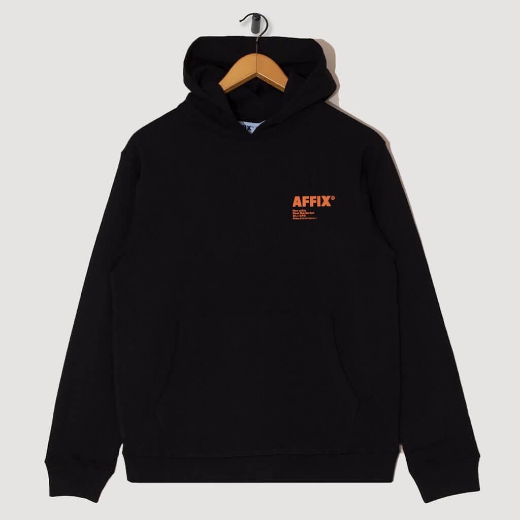 Standardised Logo Hoodie - Black/Orange