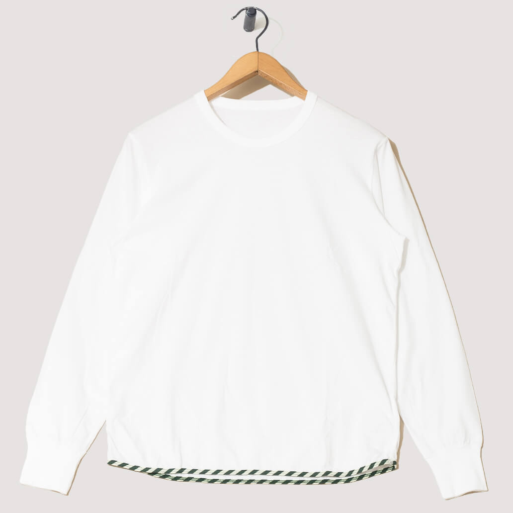 Sublig Tee L/S - White With Border