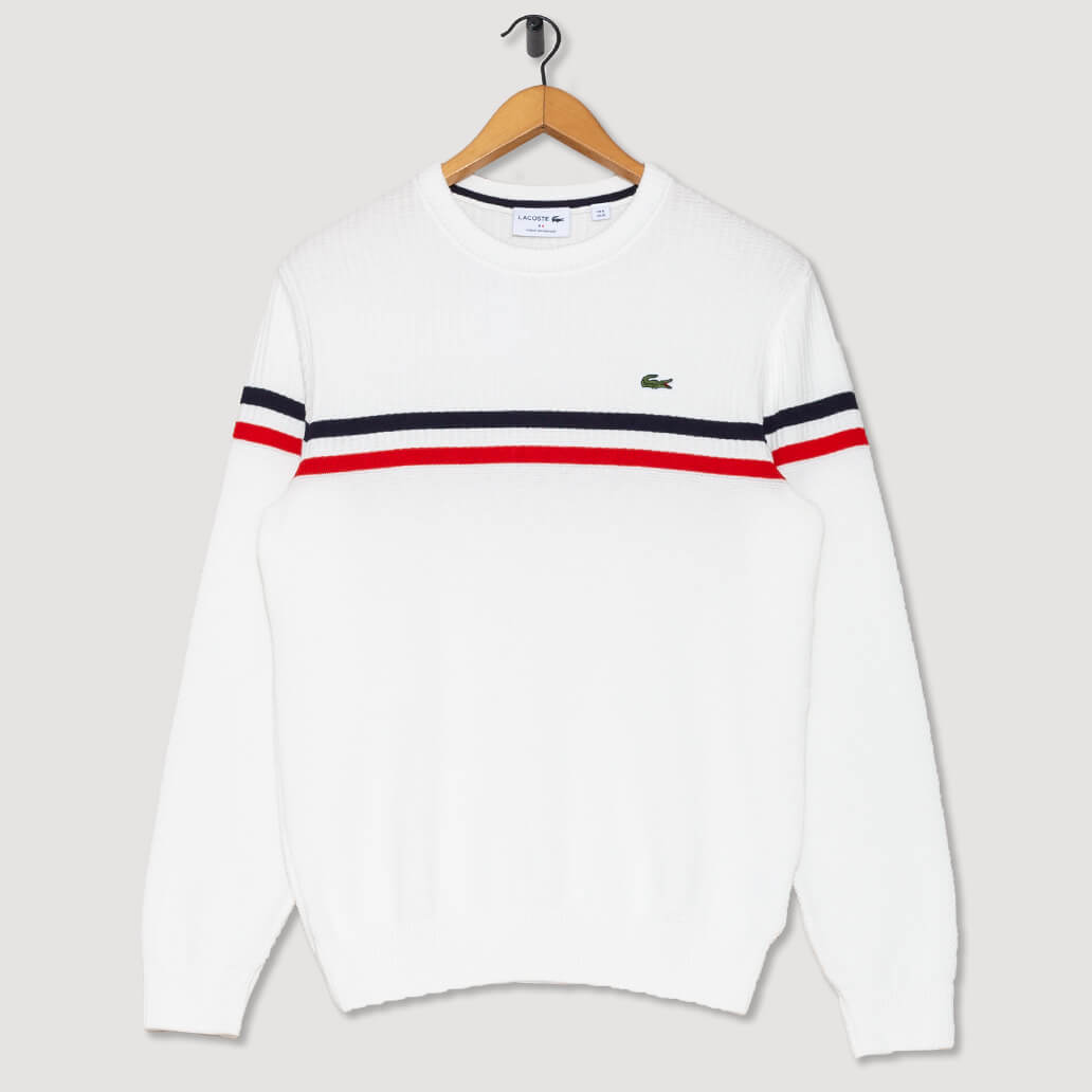 Tennis Sweater - Blanc/Rouge/Bleu