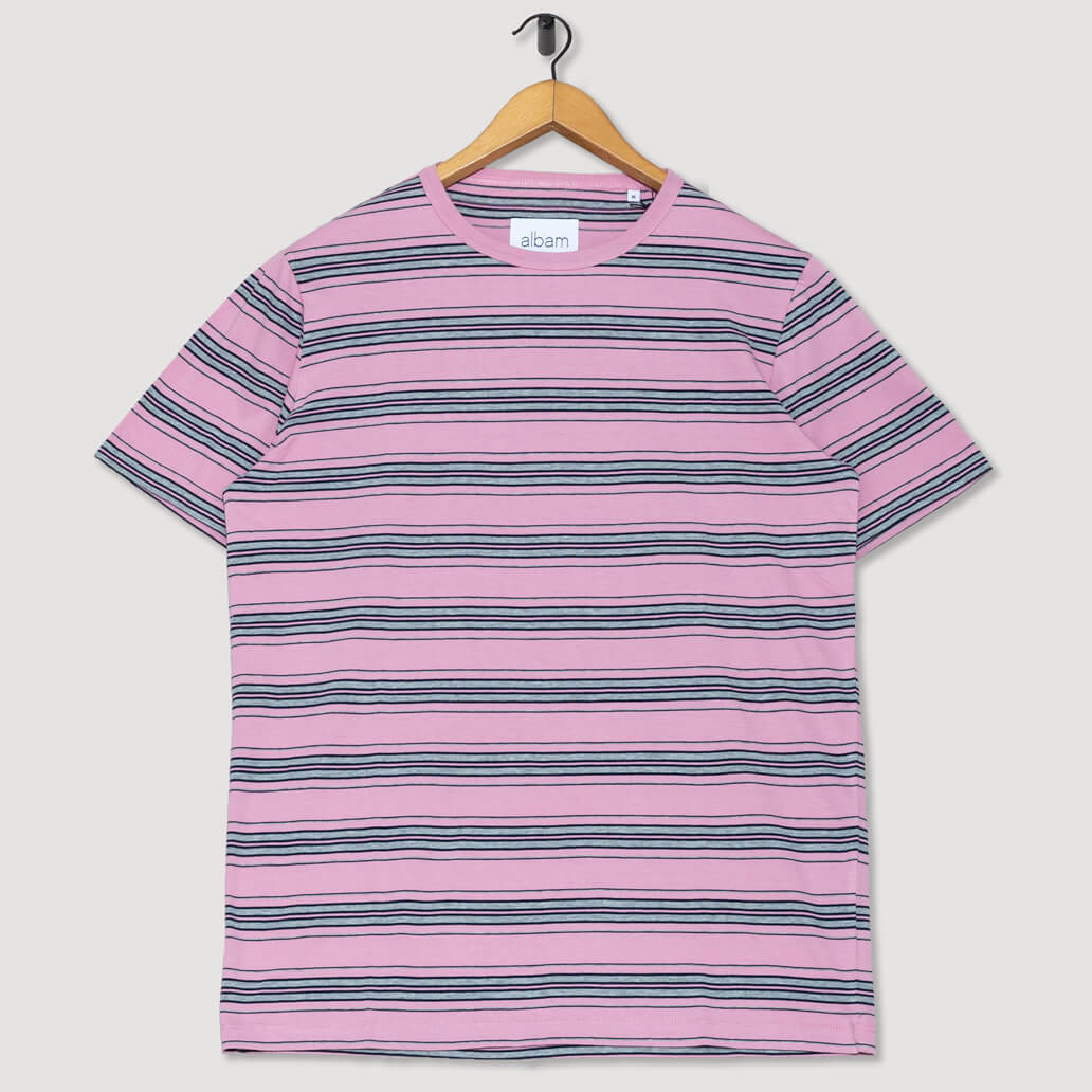 Vintage Stripe T-Shirt - Dusty Cedrar