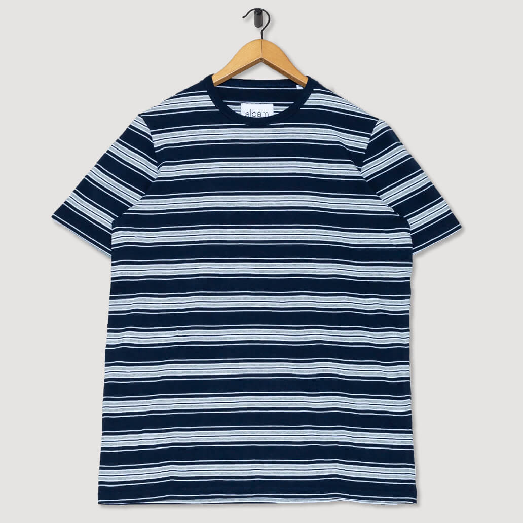 Vintage Stripe T-Shirt - Navy/White