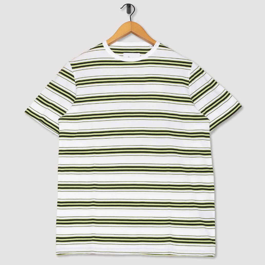 Vintage Stripe T-Shirt - Whte/Navy