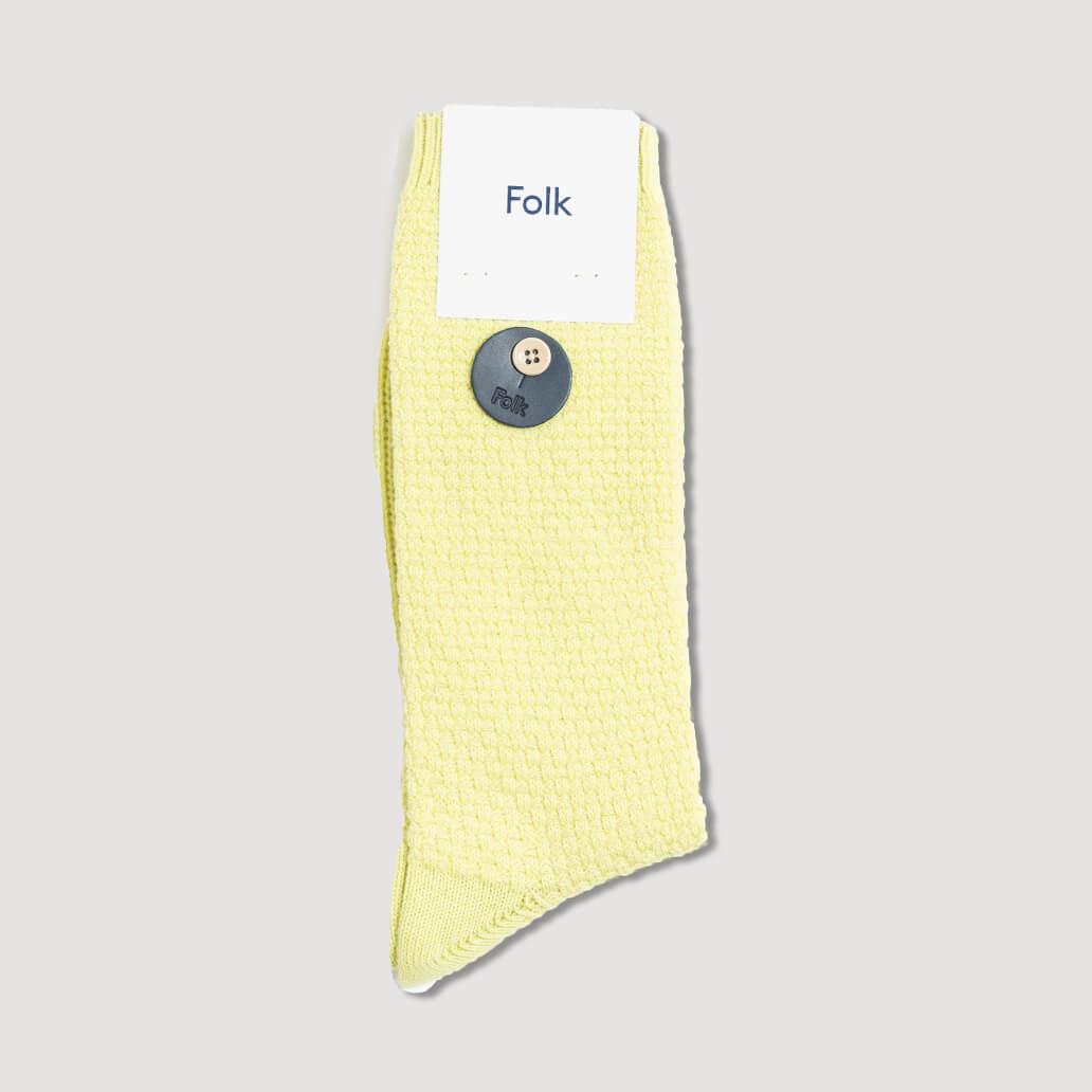 Waffle Socks - pale lemon (209)