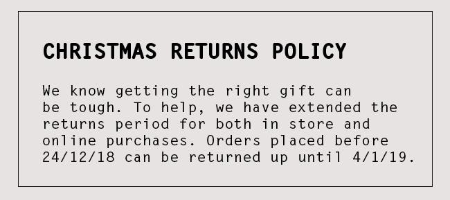 Christmas Returns Policy